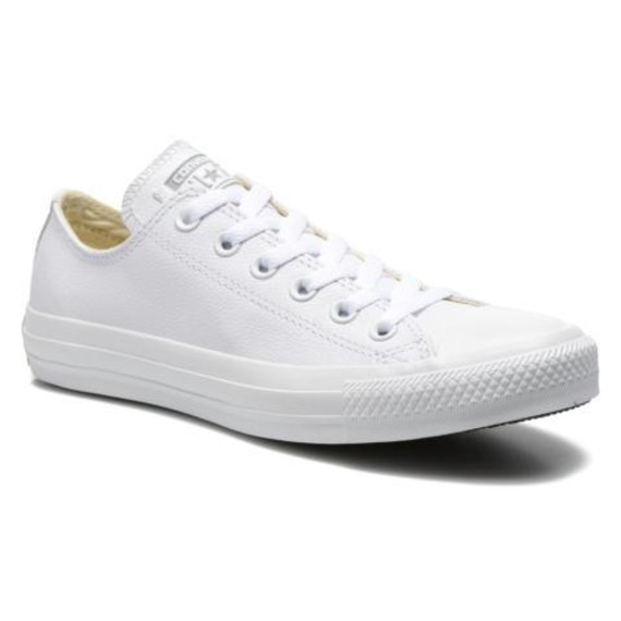converse all stars dames wit leer